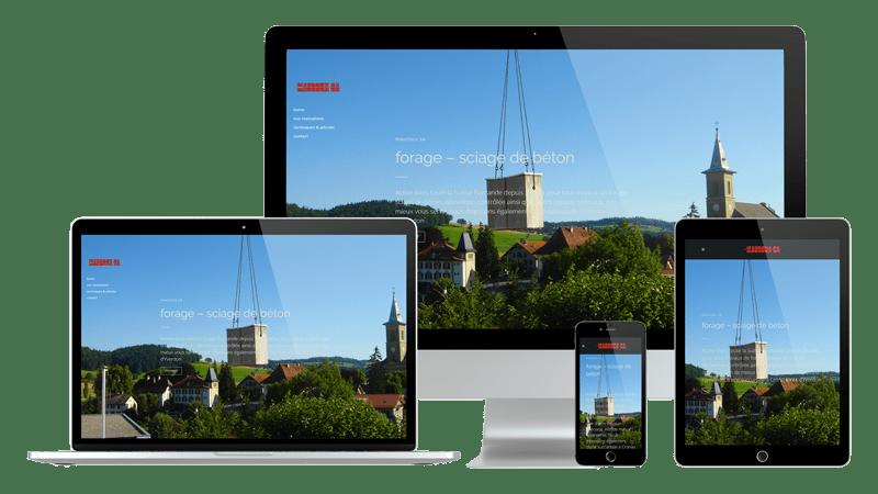 Présentation design responsive - Mauroux SA