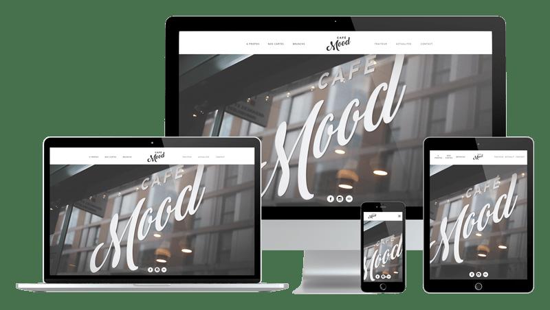 Présentation design responsive - Café Mood