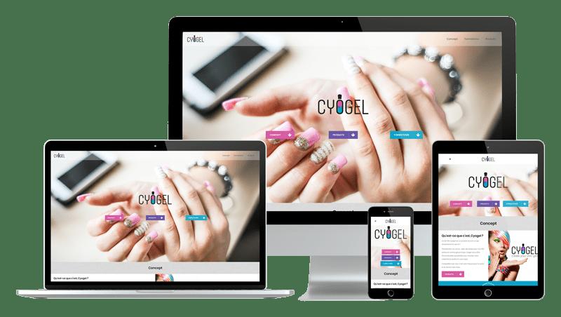 Présentation design responsive - Cyogel