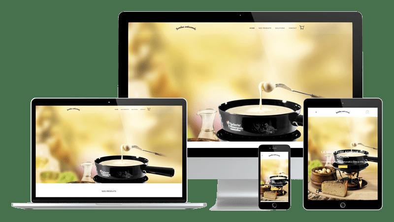 Présentation design responsive - Fondue Artisanale