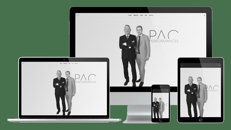 Présentation design responsive - PAC Performances