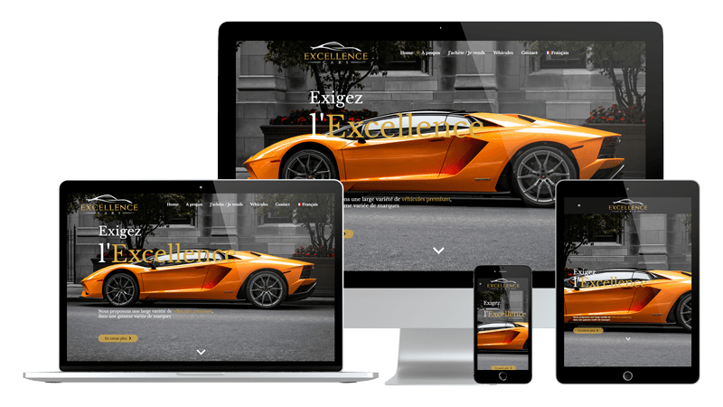 Présentation design responsive - Excellence Cars