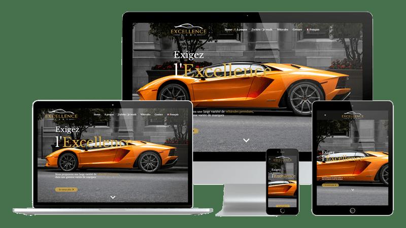 Présentation design responsive - Excellence Cars